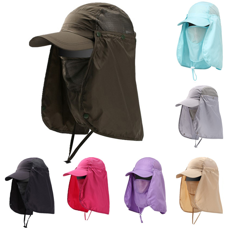 Summer Men's and Women's Breathable Sun Visor Quick-drying Waterproof and UV-proof Fishing Hat
