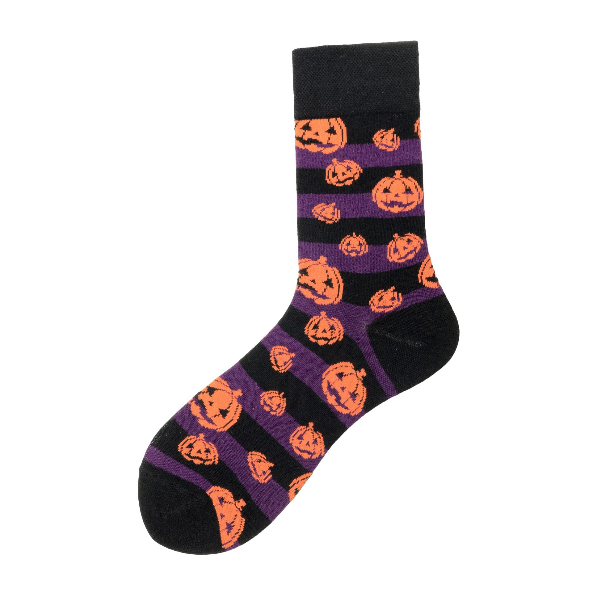 New funny pumpkin head Halloween series cotton socks NHZG145925