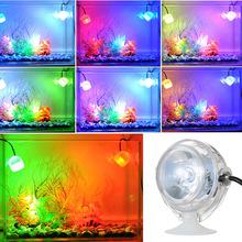 热销 LED鱼缸射灯水族灯小鱼缸夹灯高亮LED灯鱼缸照明灯潜水灯