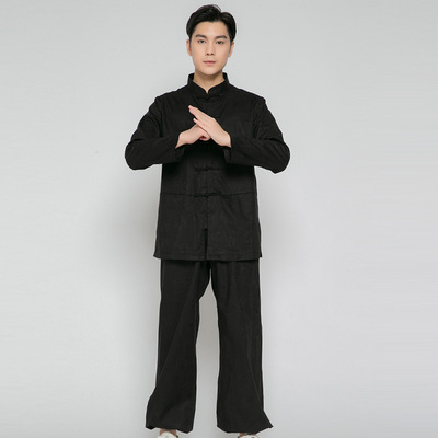 tai chi clothing chinese kung fu uniforms buckle training suit traditional martial arts performance suit