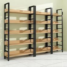 简易钢木置物架客厅书架展示架多层落地精品货架陈列架厂家批发