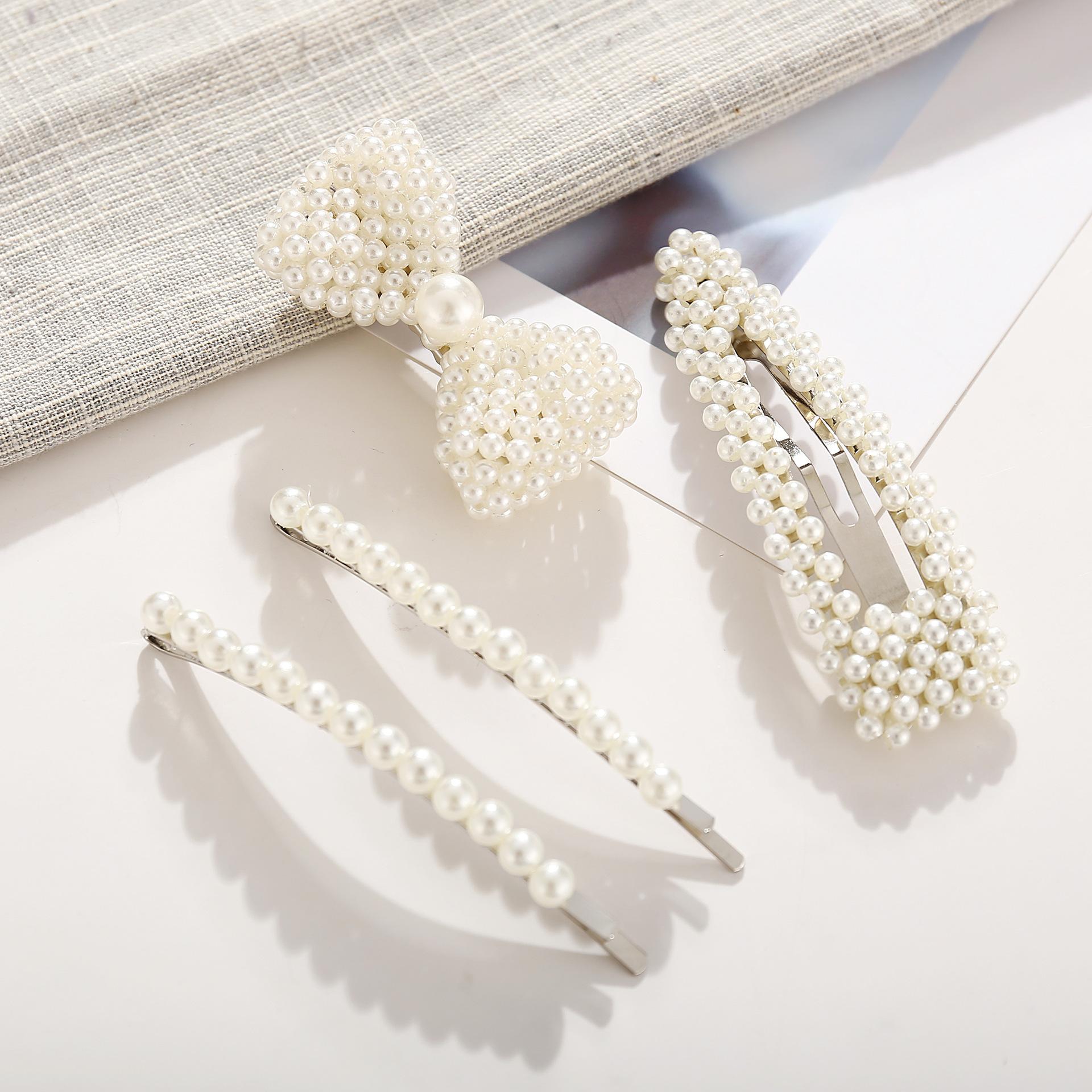 Creative retro simple word beads hairpin set NHPJ128386