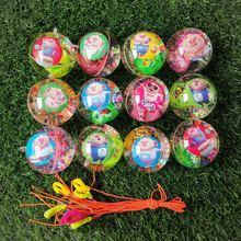 创意会亮的玩具水晶球闪光led发光球弹跳弹力球儿童夜市地摊货源