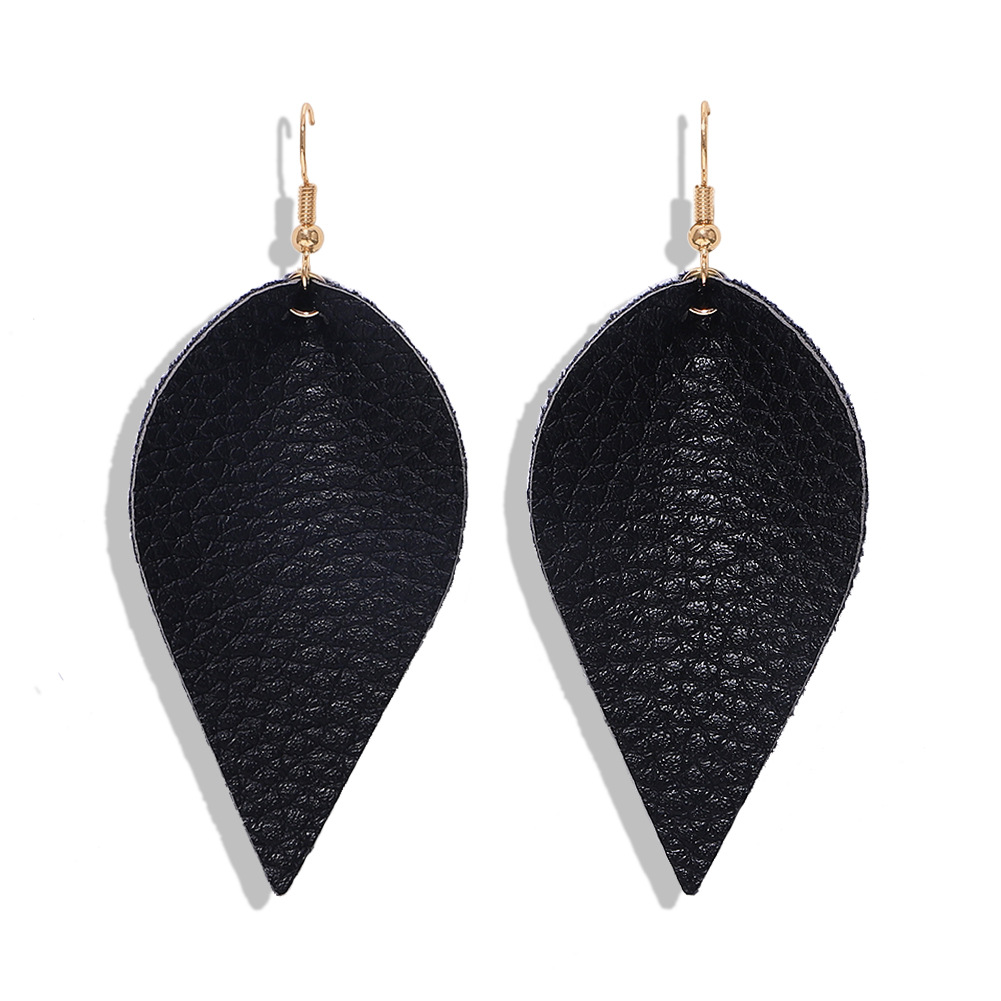 Leather leaf earrings are uniquely simple NHJQ171235
