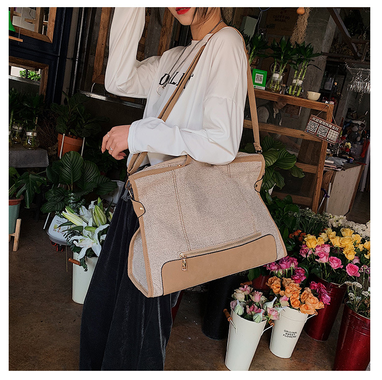 Fashion art large capacity shoulder bag NHLD158000