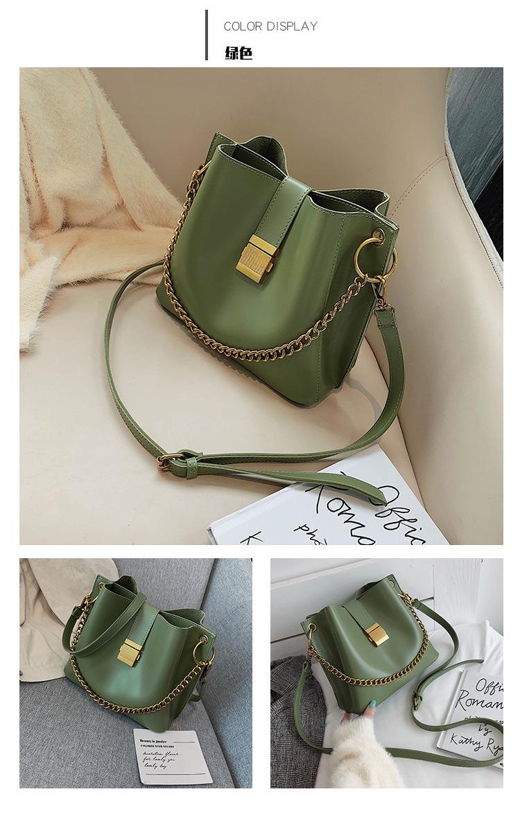 Stylish foreign gas chain portable bucket bag NHPB154147