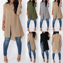 Long-sleeved Chiffon Blouse Women's causal shirt Dresses
