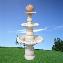 廠家直供晚霞紅石雕噴泉水景 漢白玉各種石材加工流水擺件