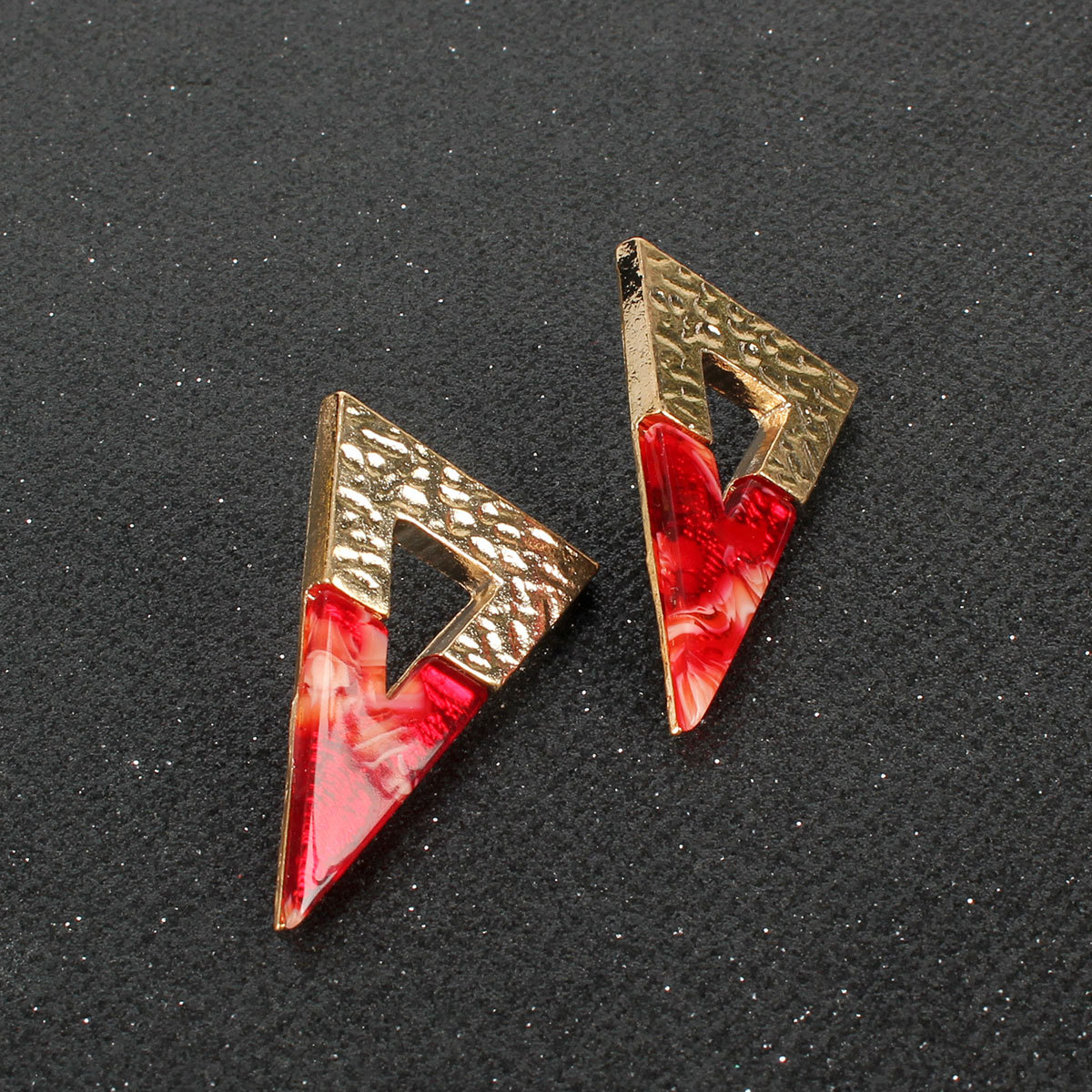 Color matching acrylic earrings alloy earrings simple fashion accessories women NHCT189830