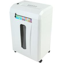 齐心 S330 白色电动碎纸机批发 办公大功率4级保密粒状17L大容量