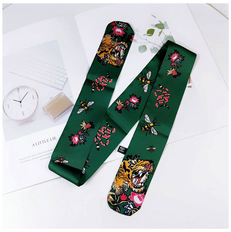 Korean cartoon animal slender narrow scarf NHMN138599