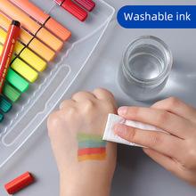 三角粗杆新款现货水彩笔儿童学生diy绘画彩笔批发 文具礼品笔定制
