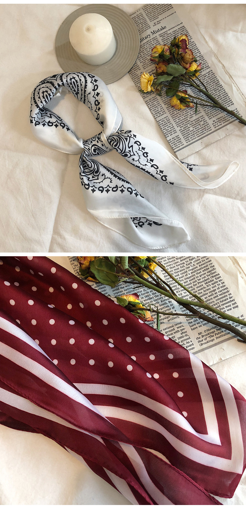 Alloy Korea  scarf  (F10 red white point)  Scarves NHTZ0403-F10-red-white-point