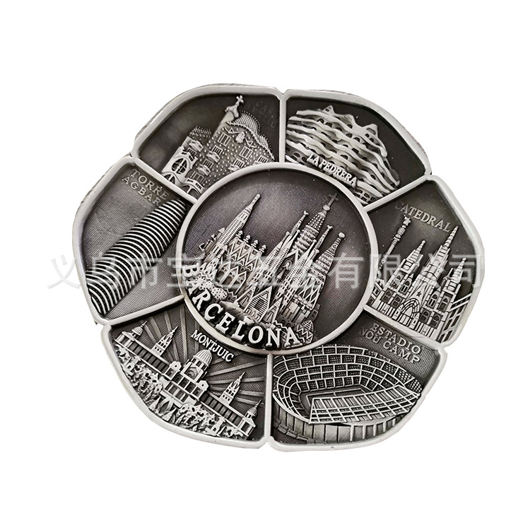 西班牙古色钥匙扣巴塞罗那高档工艺品摆件世界各地旅游纪念品定制