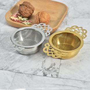 Hot sale 304 stainless steel golden tea strainer tea leaking tea strainer teapot strainer lace tea every effort