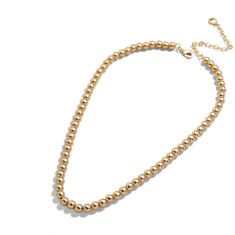 Hot-selling new bracelet retro simple big brand bead chain three-layer women's necklace wholesale NHLL248070