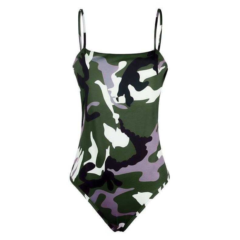 Slim Sling Camouflage Jumpsuit   NSKX6214