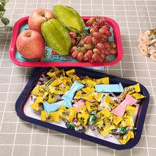 新款可爱田园风托盘家用铁艺水果盘 干果盘 小吃盘 零食盘子餐具