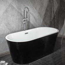 獨立式黑色彩色紅色黃色藍色亞克力對接酒店工程家用成人日式浴缸