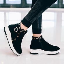 新品運動風外貿款女18年冬季舒適平底學生短靴31-4Women's Boots