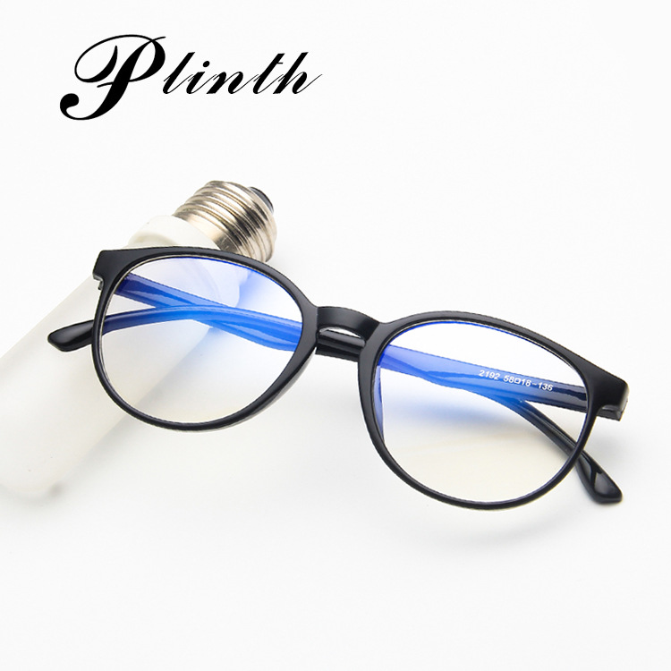 New Korean fashion spectacle frame personality 2192 flat mirror transparent jelly color tide spectacle frame retro frame mirror