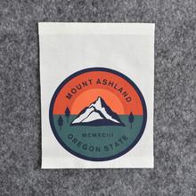 直銷絲網印刷布標 彩色圖案棉質絲印領標LOGO標志來圖定制