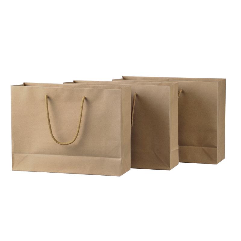厦门黄牛皮纸180g手提纸袋现货批发 可定制logo黄牛纸袋批量出售