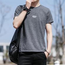 2019夏季新款男T恤青年韩版套头短袖时尚潮男式打?#21672;纓恤一件代发
