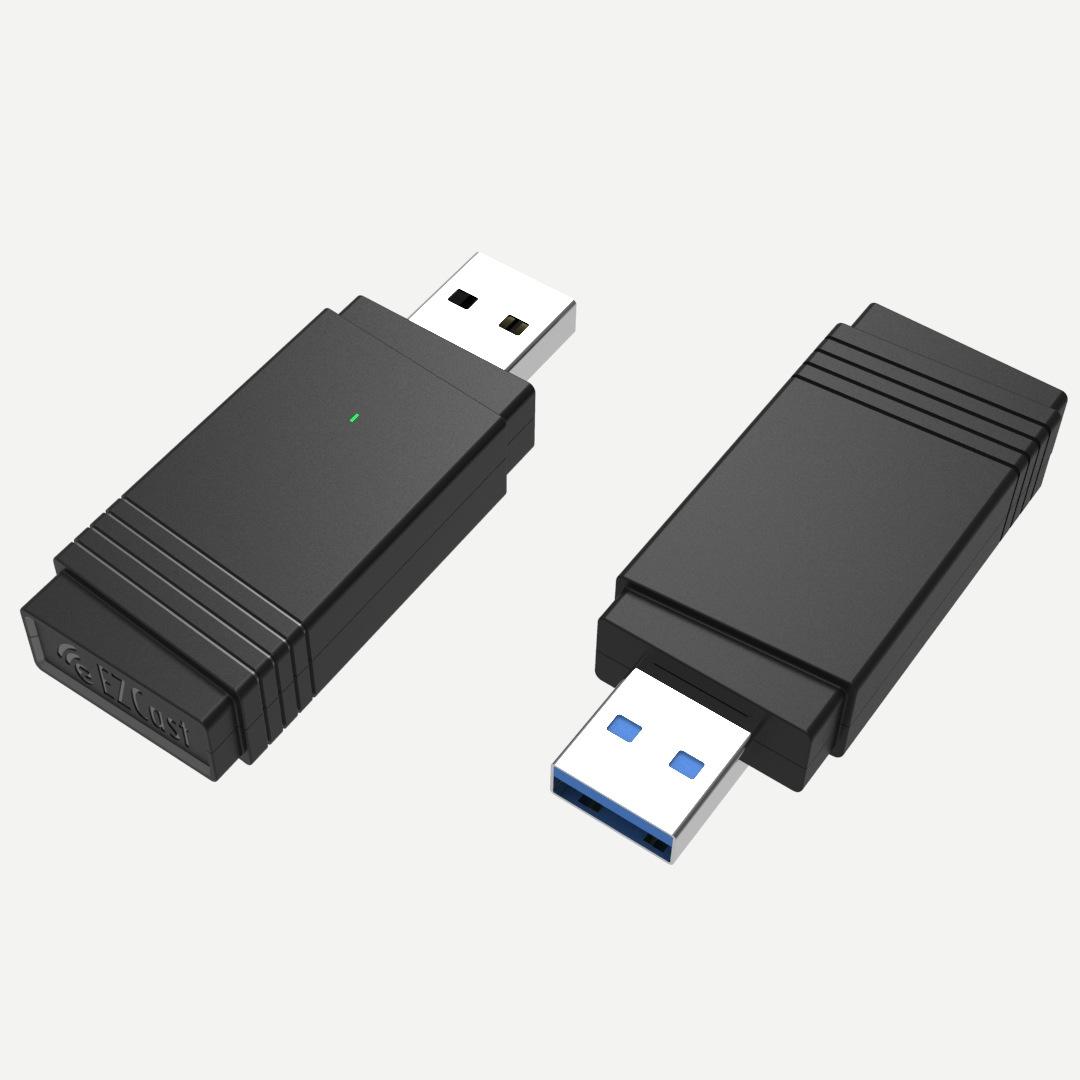 1200M عالية السرعة MIMO الأعمال المزدوجة النطاق USB3.0 بطاقة شبكة لاسلكية 11AC متعددة الوظائف 5.8G + 2.4G + BT5.0