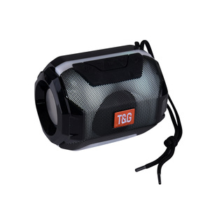 Mini outdoor wireless bluetooth speaker with colorful lights, subwoofer, FM card audio, foreign trade gift customization