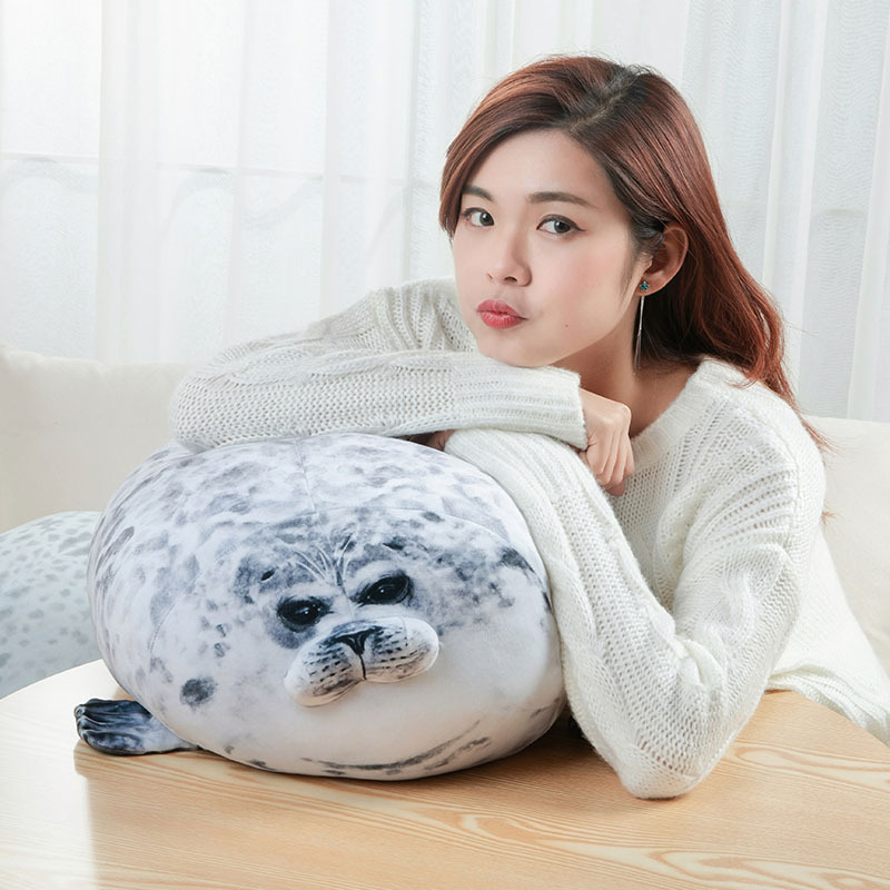 Angry Seal Pillow Plush Seal Cute Animal Toy Seal Pillow Giant Stuffed Doll