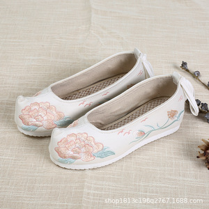 Han Dynasty shoes ancient shoes children heightening fairy princess kimono dress performance embroidered shoes for girls