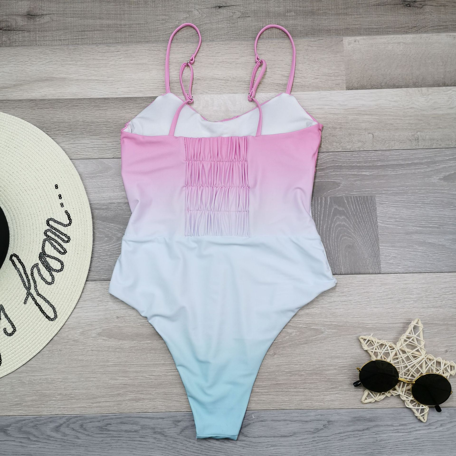 New swimsuit onepiece swimsuit gradient stitching NHHL199984