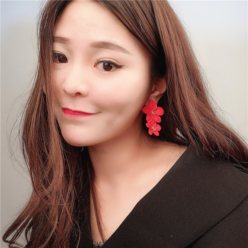 Womens Floral Plating Multicolor flowers  Alloy Earrings VA190506120450