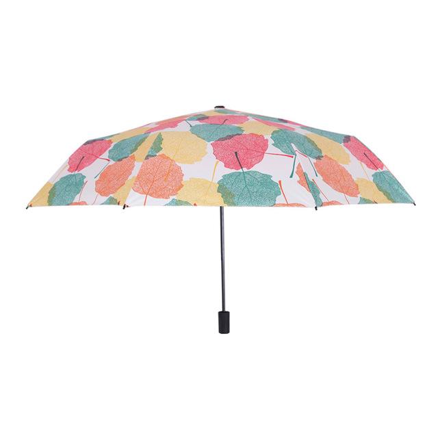 Nhỏ tươi triple kem chống nắng UV CN ô gấp ô sáng tạo những món quà dù quảng cáo ô phụ nữ bán buôn Ô dù nóng