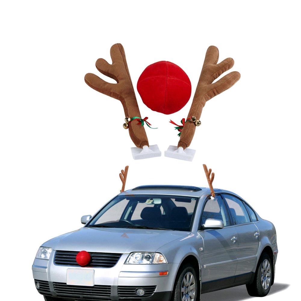 圣诞节汽车装饰鹿角汽车鹿角 圣诞节装饰品圣诞 汽车装饰麋鹿鹿角