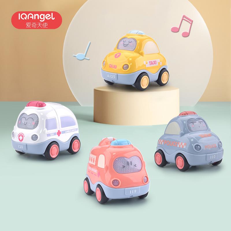 可优比同款儿童玩具车男孩惯性小汽车音乐声光0-3岁宝宝益智玩具