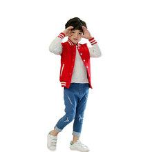 秋冬加厚休闲儿童棒球服定制diy幼儿园校服空白童装棉衣批发全棉