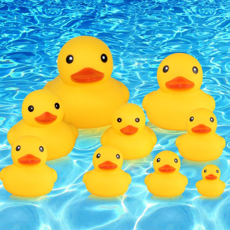 吉鑫玩具大黄鸭儿童戏水洗澡捏捏叫发声小黄鸭子宝宝玩具1-9号鸭
