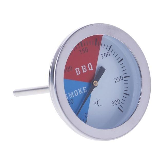 跨境直供 双金属温度计 BBQ烧烤炉温度计烧烤温度表 厨房温度计