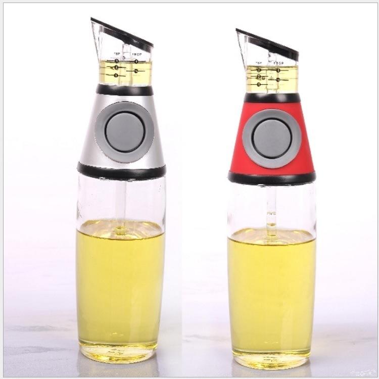 厂家按压式可计量玻璃瓶油壶玻璃防漏调味瓶香油瓶醋瓶厨房用品