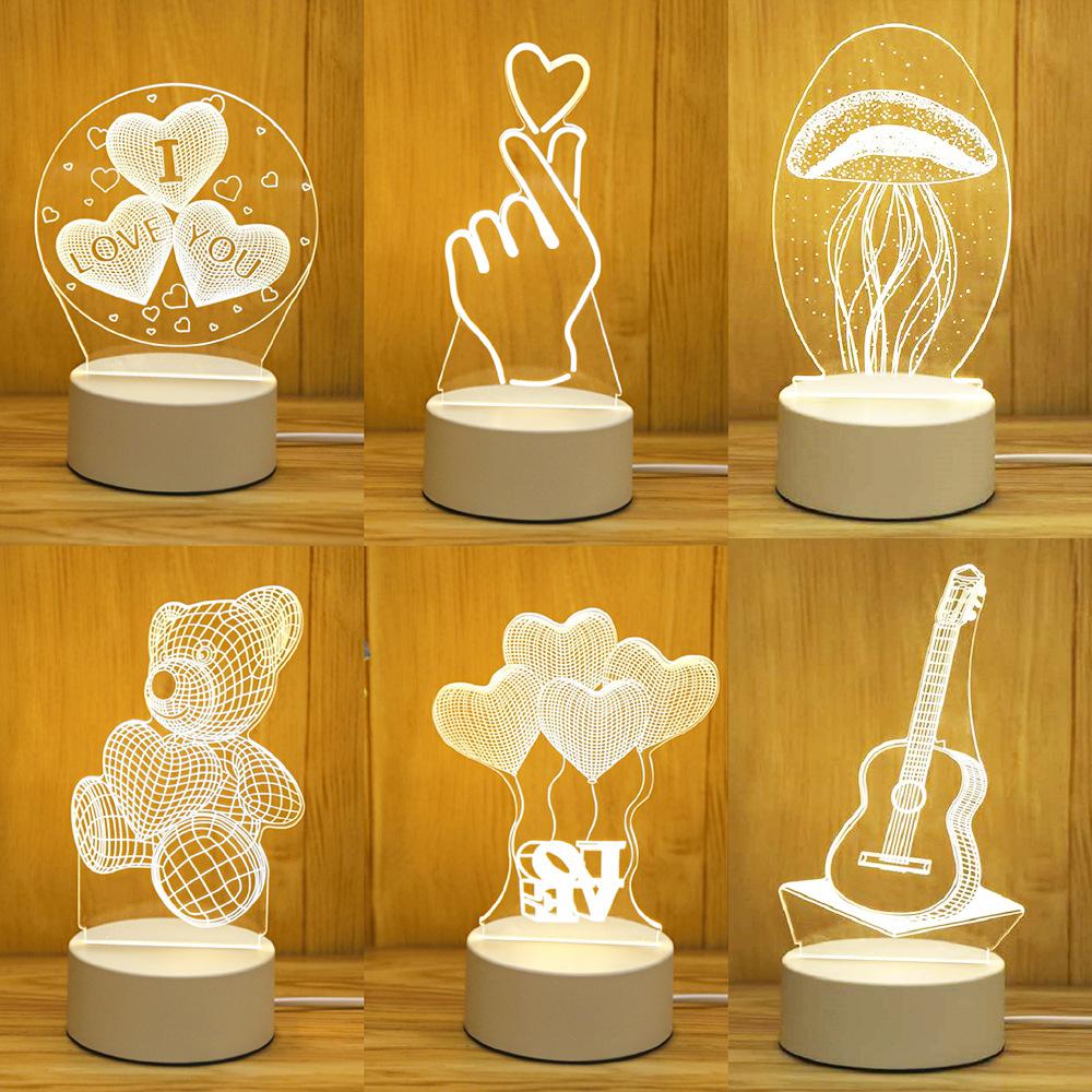创意礼品定制3D小夜灯 LOGO公司国庆中秋活动庆典广告节日礼品灯