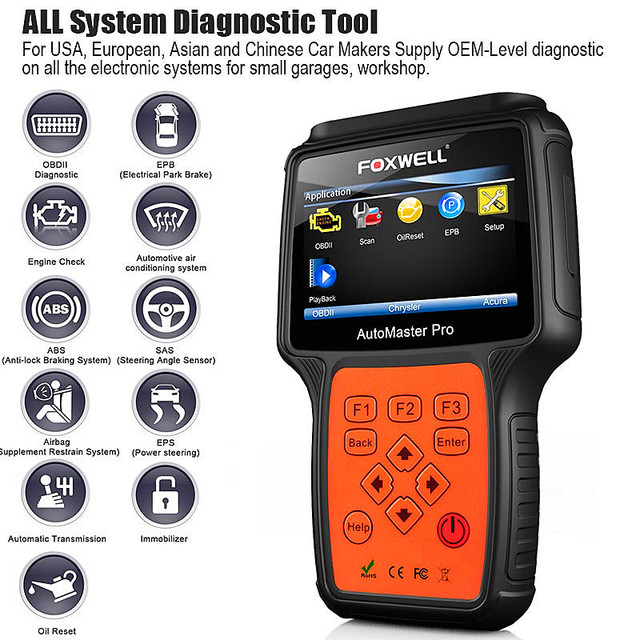 Foxwell NT624  Pro All Makes All Systems Scanner 汽车检测仪