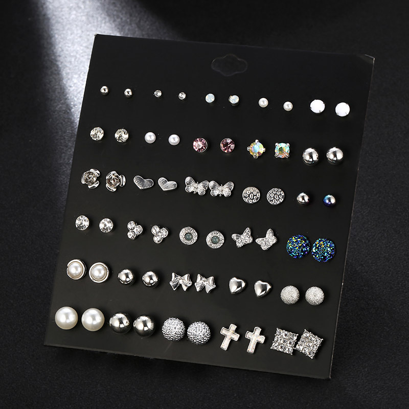 Womens Geometry Electroplating Beads butterfly animal Alloy Earring set NHSD124800