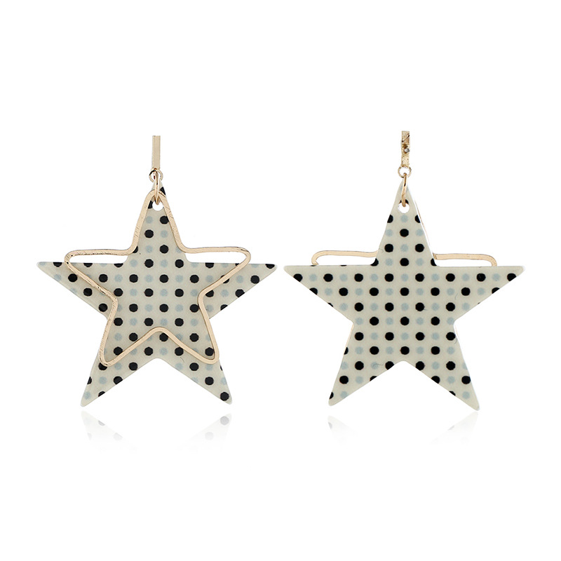 Alloy Simple Sweetheart earring  (White KC alloy)  Fashion Jewelry NHKQ2428-White-KC-alloy