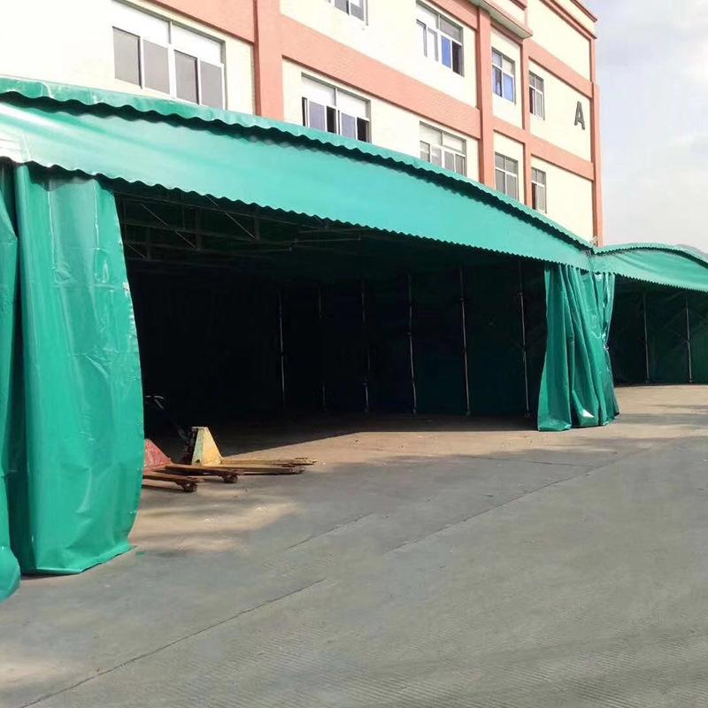 推拉雨篷 移动推拉篷伸缩篷 大型仓库储存活动推拉篷雨棚厂家定制