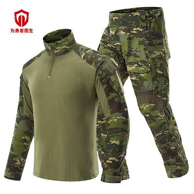 策马厂家生产 批发CP训练服ACU美军青蛙服G3长袖蛙服套装件代发