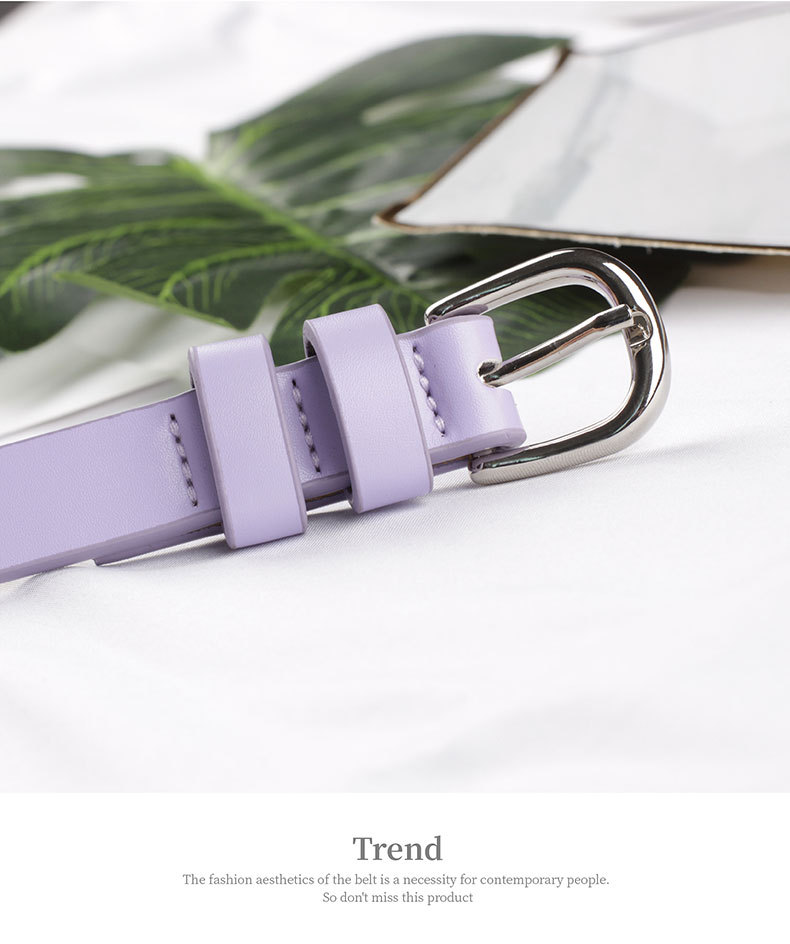 Thin belt dress decoration small belt wild lady pin buckle belt belt wholesale NHPO183187