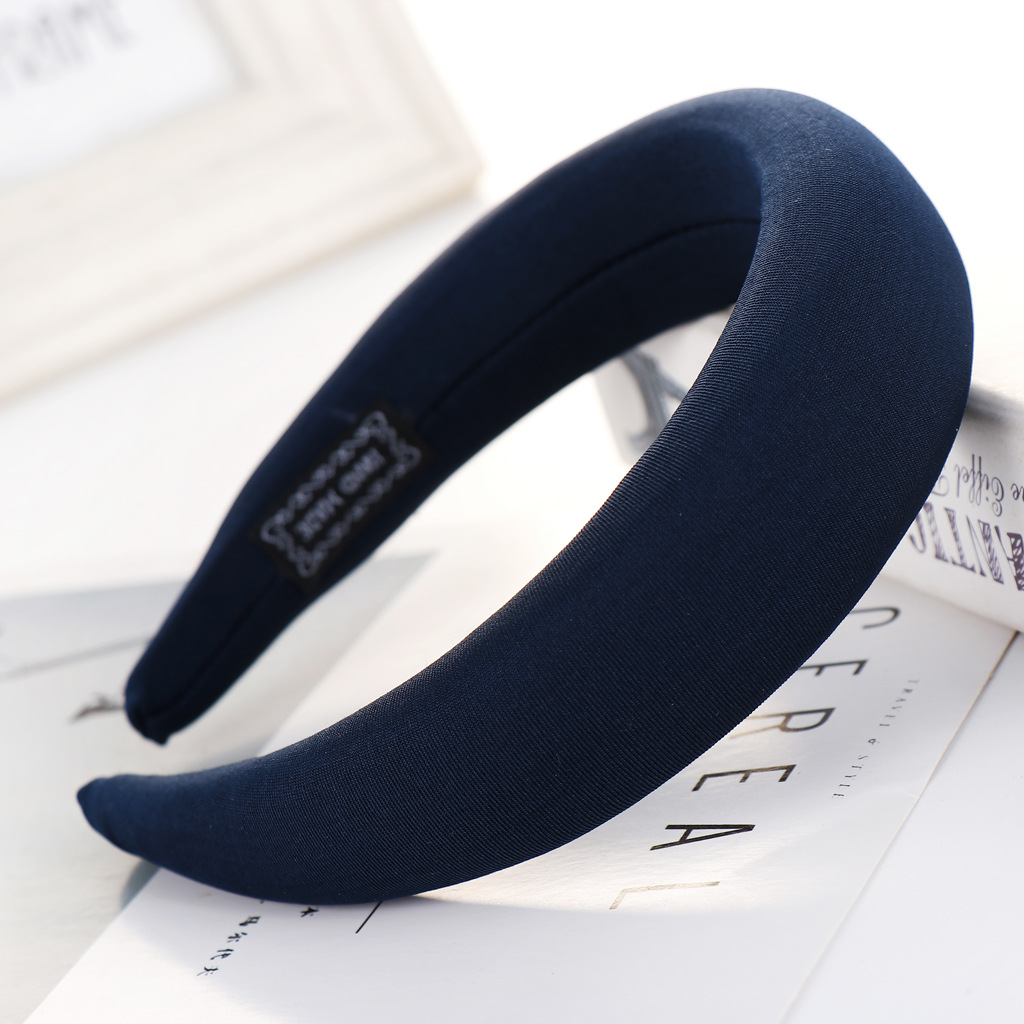 Fashion solid color sponge ring headband multicolor NHHV139967