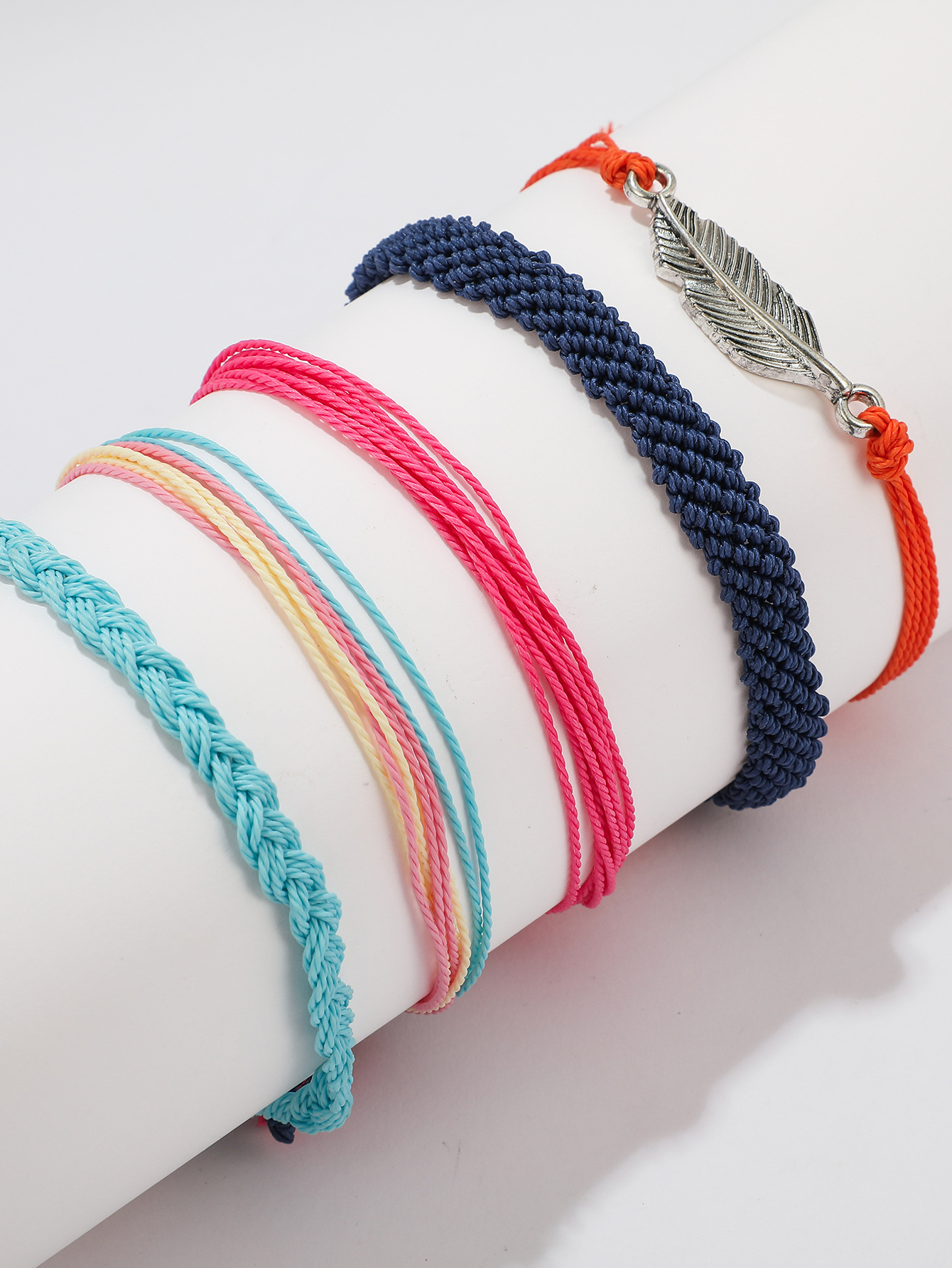 Europe and the United States wax line hand rope hand-woven waterproof bracelet NHGY150285